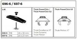 Adaptér Thule do T-drážky 697-6